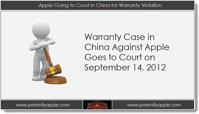1. Apple Going to Court in China for Warranty Violation