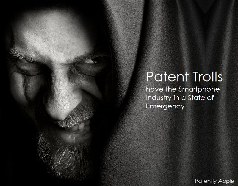 1. Patent Trolls have the Smartphone Industry in a State of Emergency