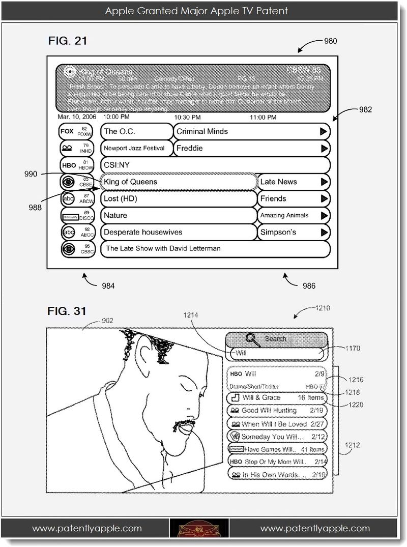 3. Apple granted major Apple TV Patent - 2