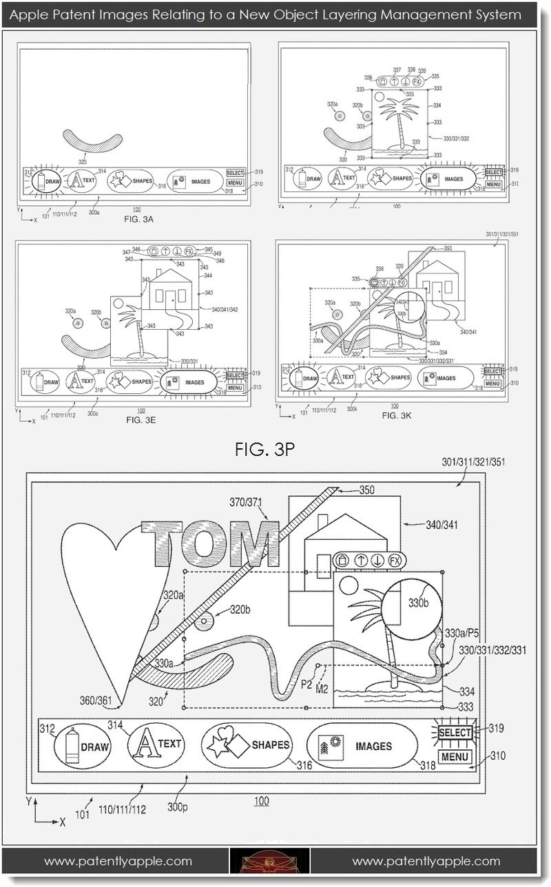 5. Apple patent images, new object layering mgmt system