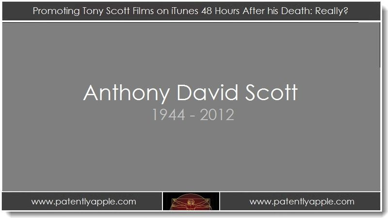 1. Promoting Tony Scott Films on iTune 48 Hours after his Death - Really
