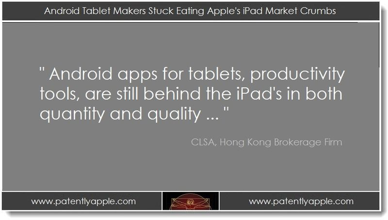 1. Android Tablet Makers Stuck Eating Apple's iPad Market Crumbs