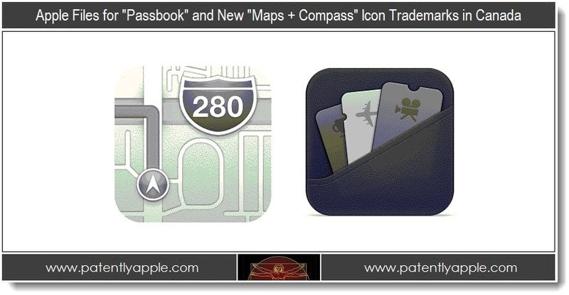 2. Apple Files for Passbook and new Maps + Compass icon TMs in Canada