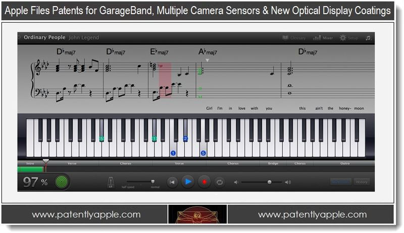 1. Apple files patents for garageband, multiple camera sensors & new optical display coatings