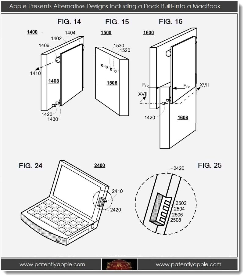 4. Apple presents alternative designs including a dock built-into a MacBook