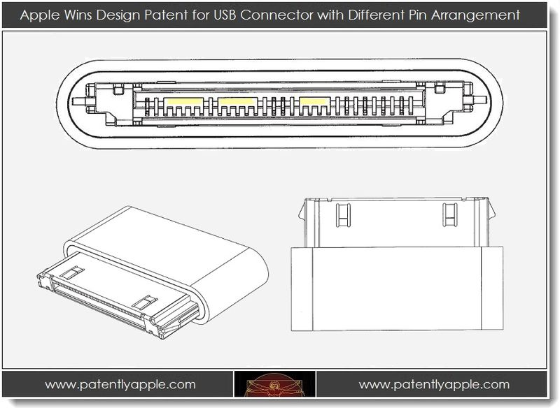 3. Apple Wins Design Patent for USB Connector with Different Pin Arrangement