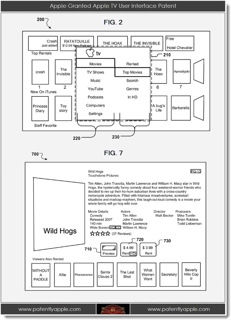 2. Apple Granted Apple TV UI Patent