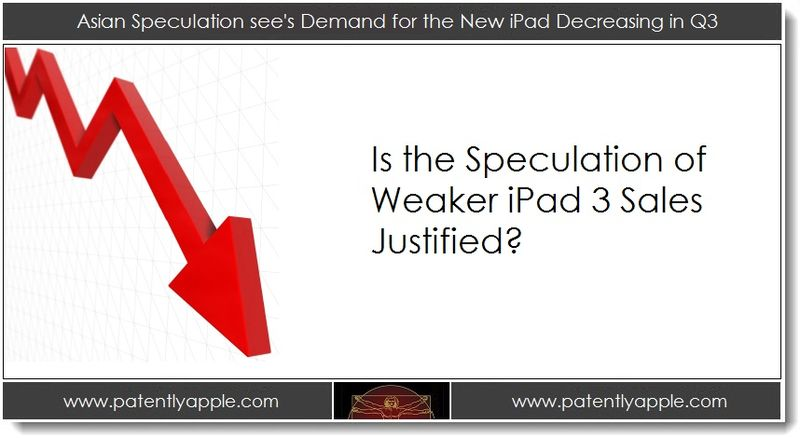 1. Asian Speculation see's Demand for the new iPad 3 Decreasing in Q3