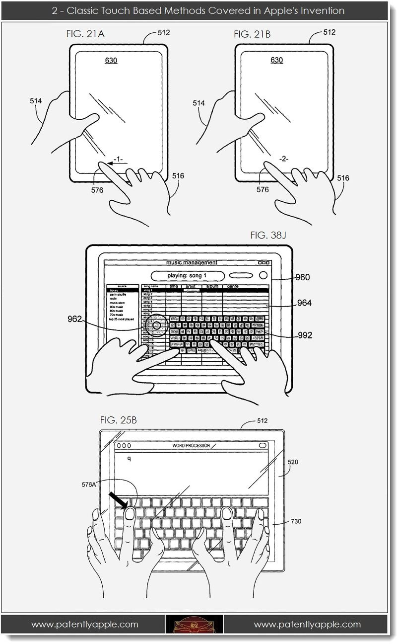 3. 2 - Classic Touch Based Methods Covered in Apple's Invention