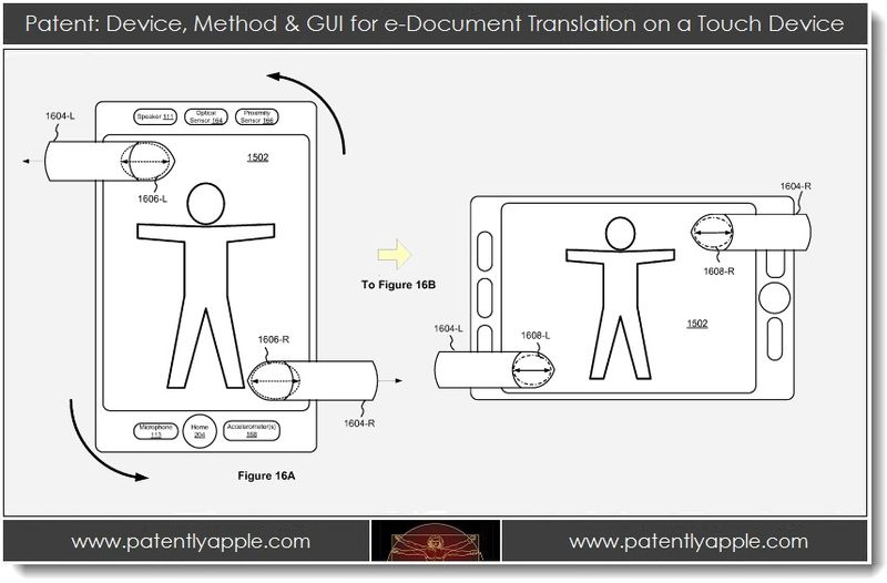 3. Apple patent - device, method & gui for e-doc translation on a touch device