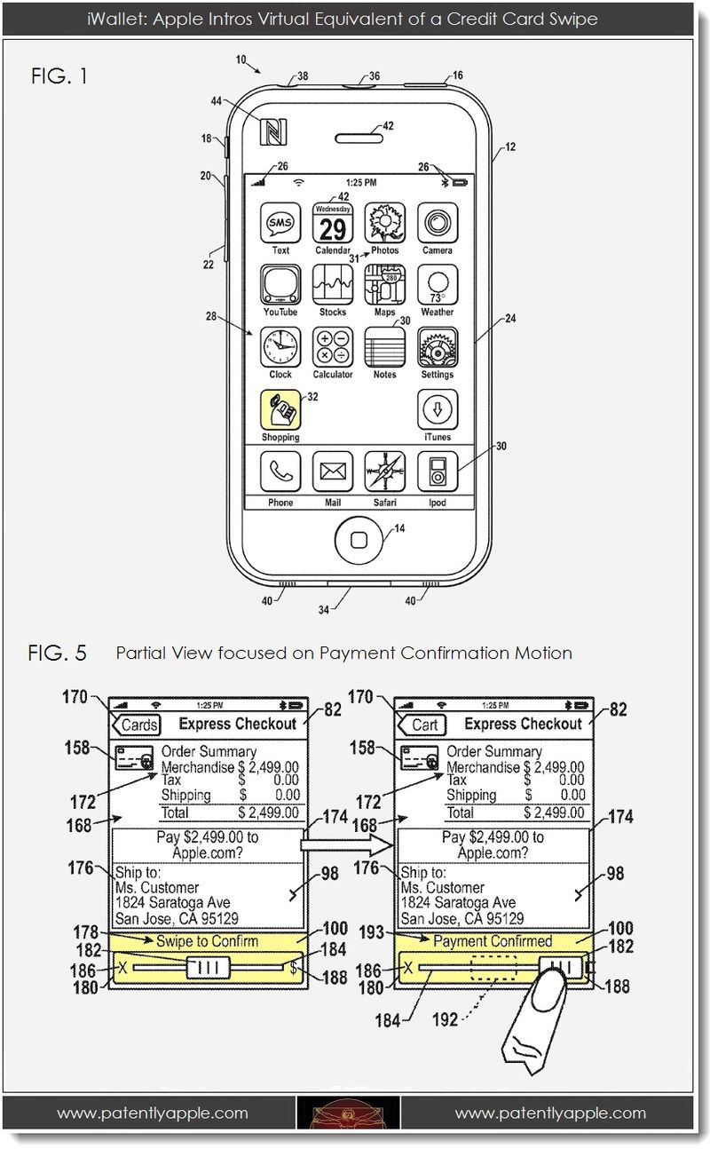 2. iWallet related patent graphics