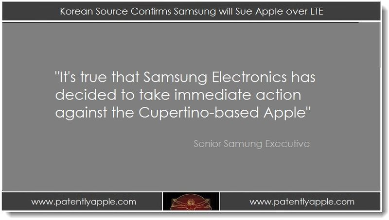 1. Korean Source Confirms Samsung will Sue Apple over LTE
