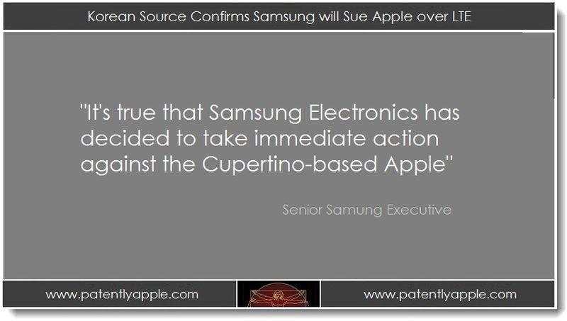 1. Korean Source Confirms Samsung will Sue Apple over LTE