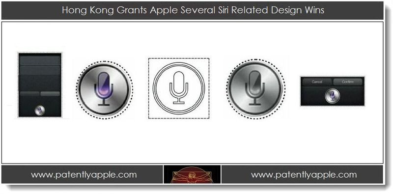 1. Hong Kong Grants Apple Several Siri Related Design Wins