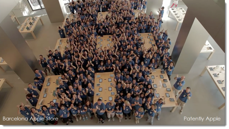 12. Cheery Apple Store Troopers in Barcelona - all of them
