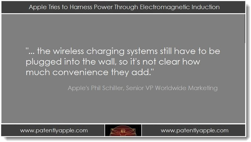 1. Apple Tries to Harness Power through Electromagnetic Induction