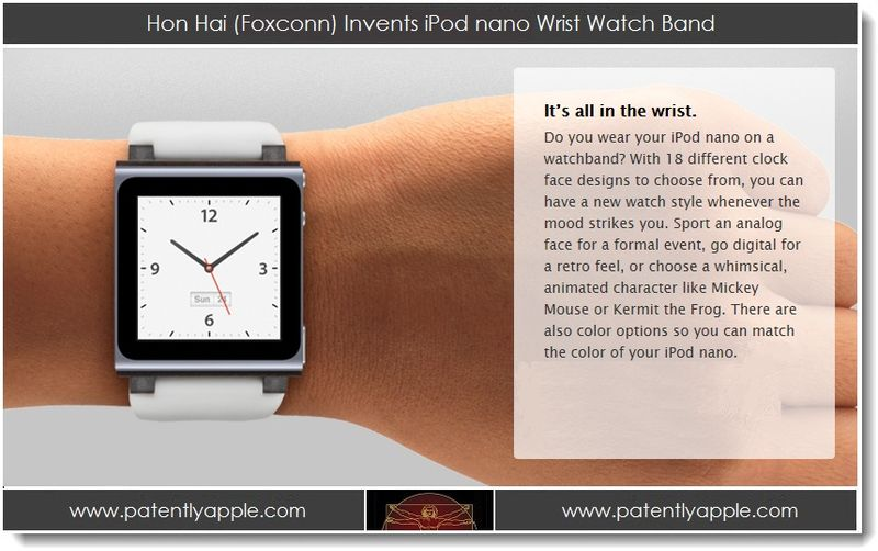 1. Hon Hai (Foxconn) Invents iPod nano Wrist Watch Band