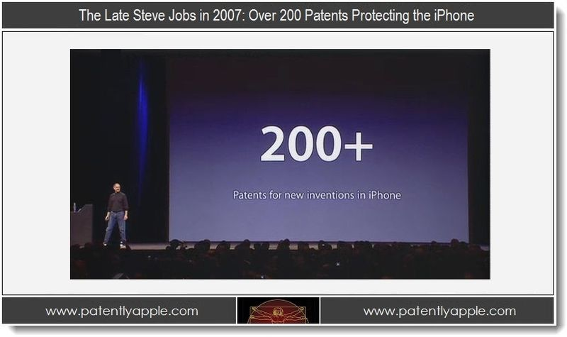 2. Steve Jobs in 2007 - over 200 patents protect iPhone