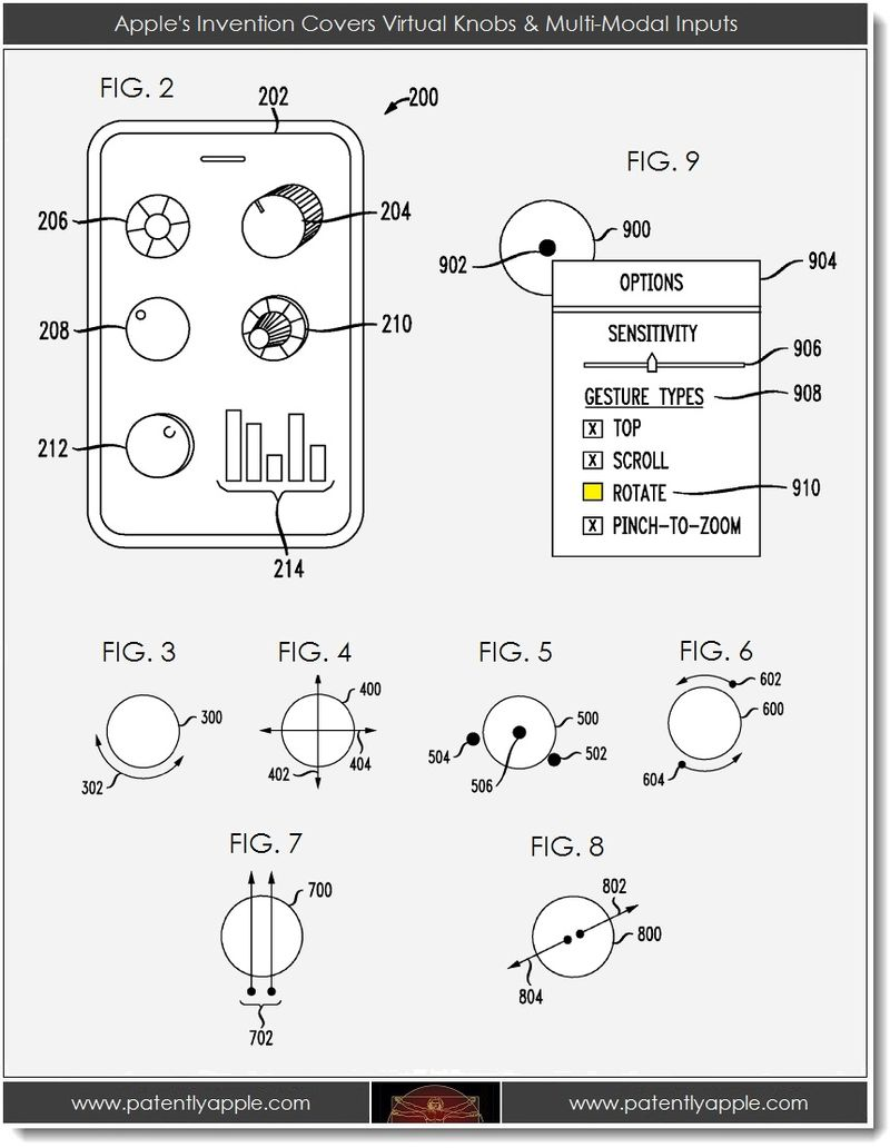 2. Apple's Invention Covers Virtual Knobs & Multi-Modal Inputs