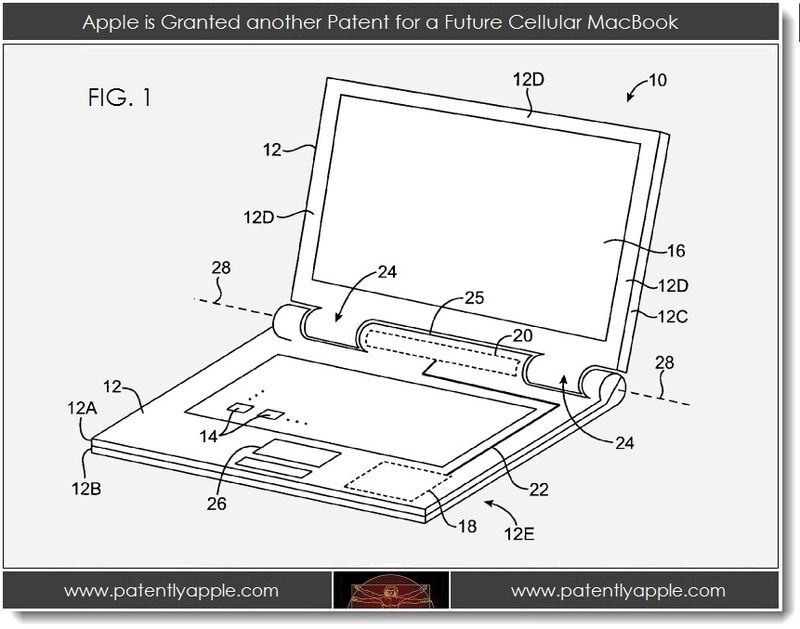 2. Apple is granted another cellular macbook patent