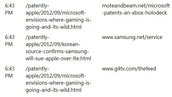 2. Samsung reading Patently Apple report Sept 11, 2012 6. 43 pm