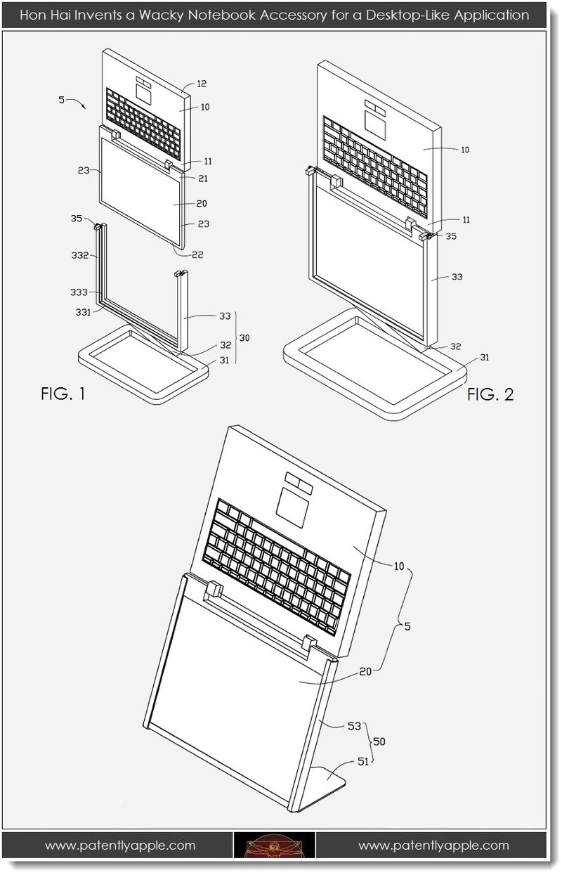 2. Hon Hai Invents a wacky notebook accessory for a desktop-like application