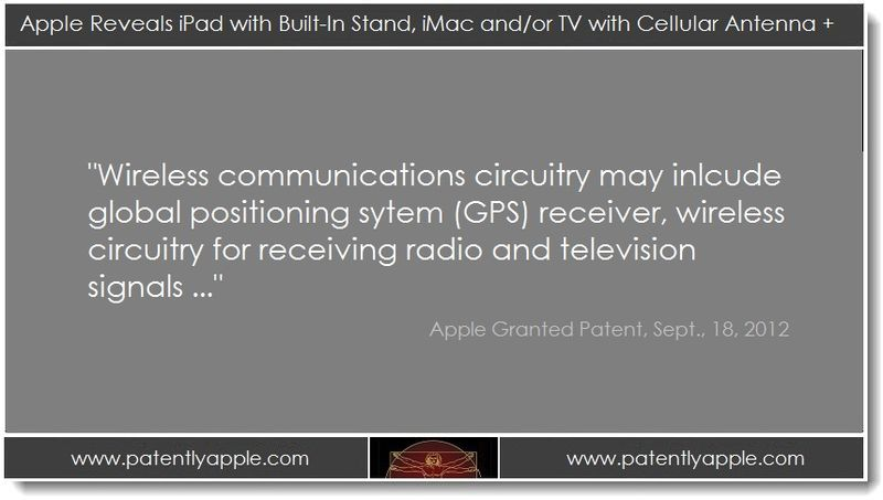 1. Apple reveals iPad with stand, imac or TV with cellulart antenna ..