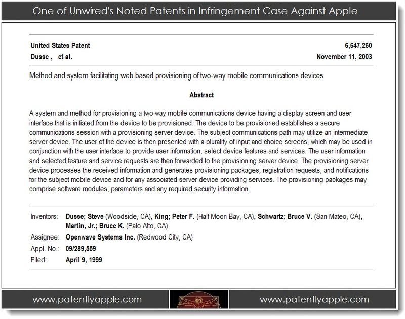 2. one of unwired's noted patents in infringement case against apple
