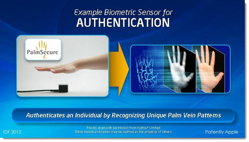 5. IDF 2012 biometric authentication - PalmSecure