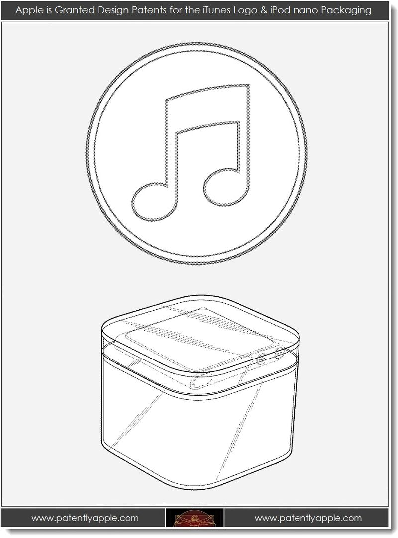 3. Apple wins design patents for iTune's logo & iPod nano pkg
