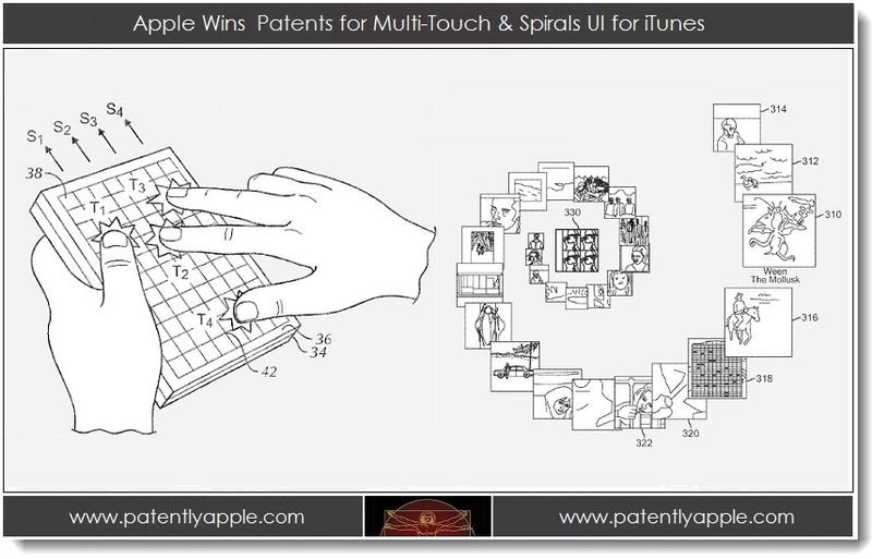 1. Apple wins patents for Multi-Touch & Spirals UI for iTunes