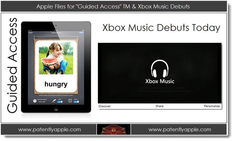 1. Apple Files for Guided Access TM & Xbox Music Debuts