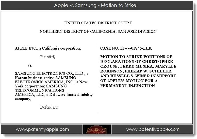 2. Apple v. Samsung - motion to strike