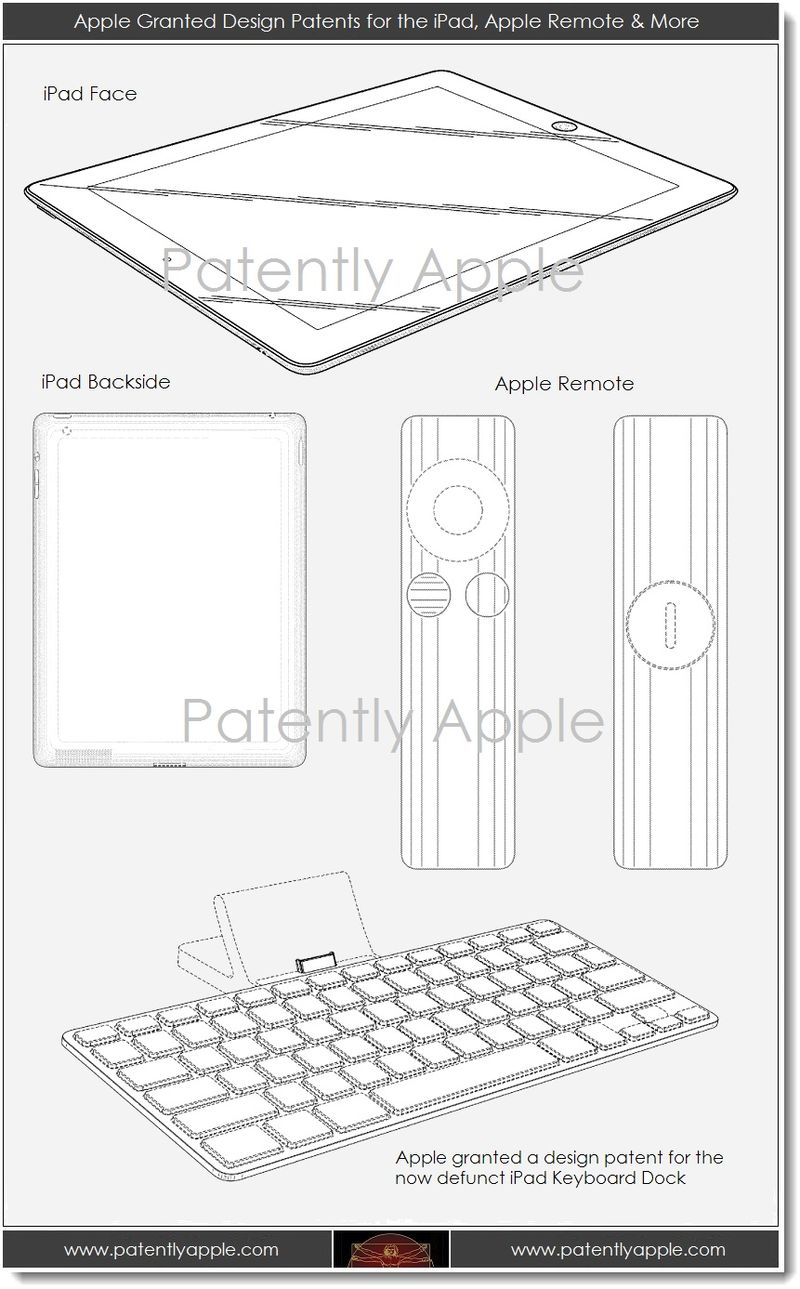5. Apple granted design patents for iPad, Apple Remote, iPad keyboard dock