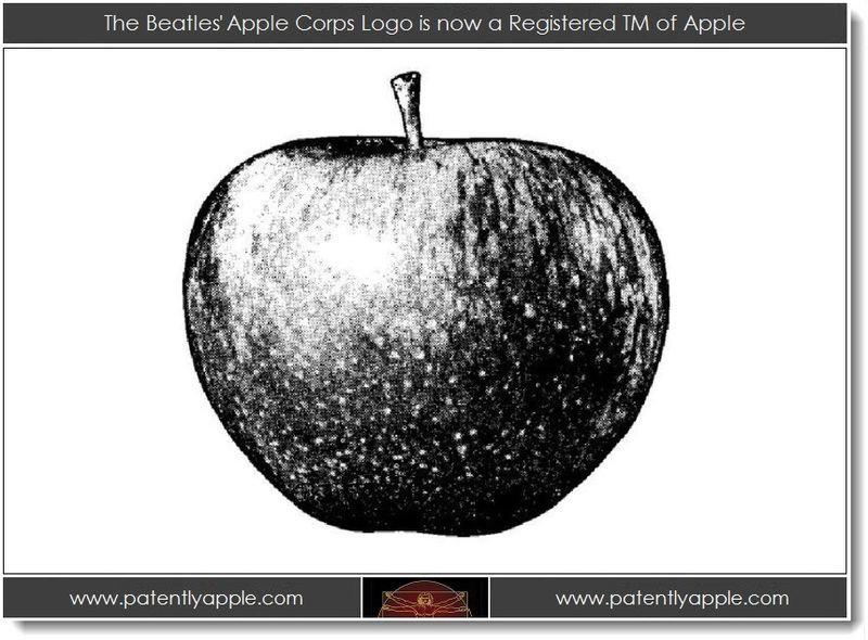 1. The Beatles' Apple Corps Logo is now a Registered TM of Apple