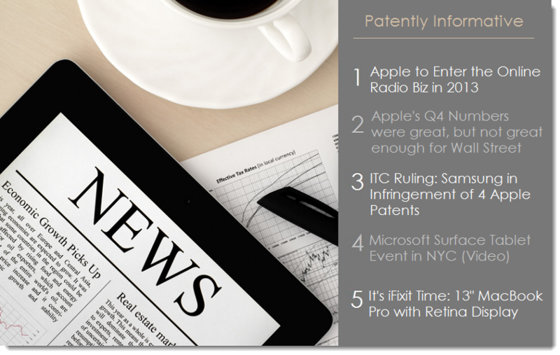 1. Patentl Informative for Oct 25, 2012