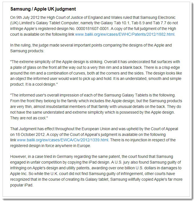 UK Apology to Samsung Backfires as Apple Sets the Record Straight