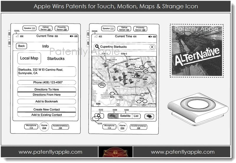 1. Apple wins patents for touch, motion, maps & strange icon