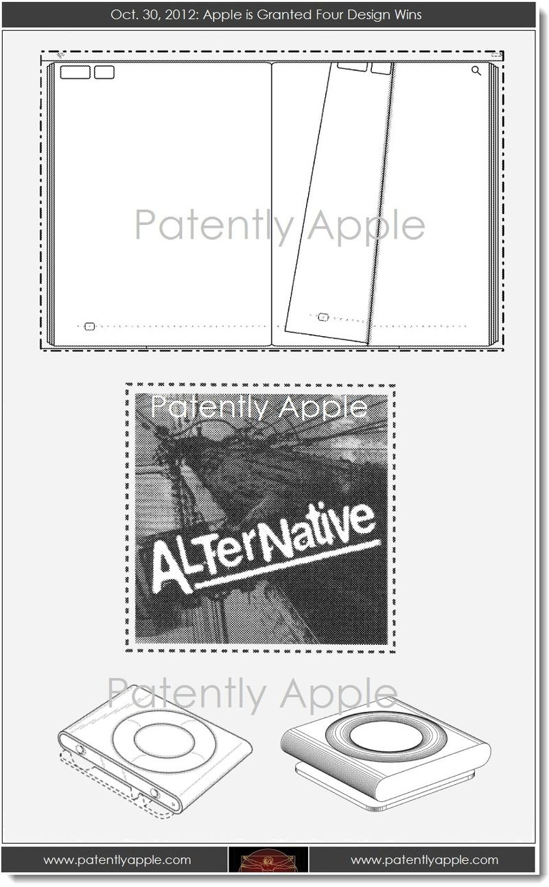 6. Apple granted 4 design patents, Oct 30, 2013