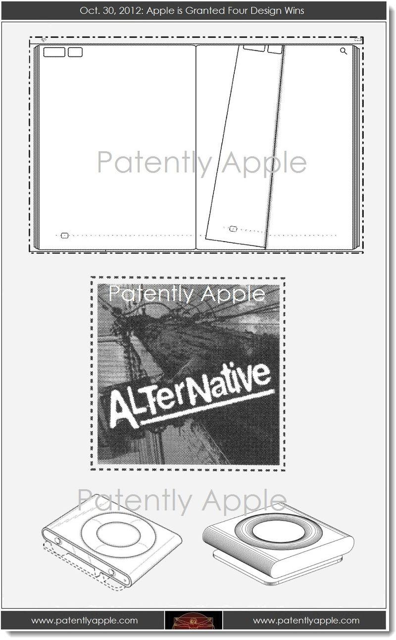 6. Apple granted 4 design patents, Oct 30, 2013