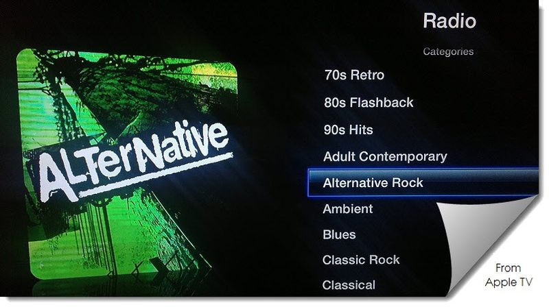 Extra Graphic, AlterNative Icon = Radio, Alternative Rock, Apple TV