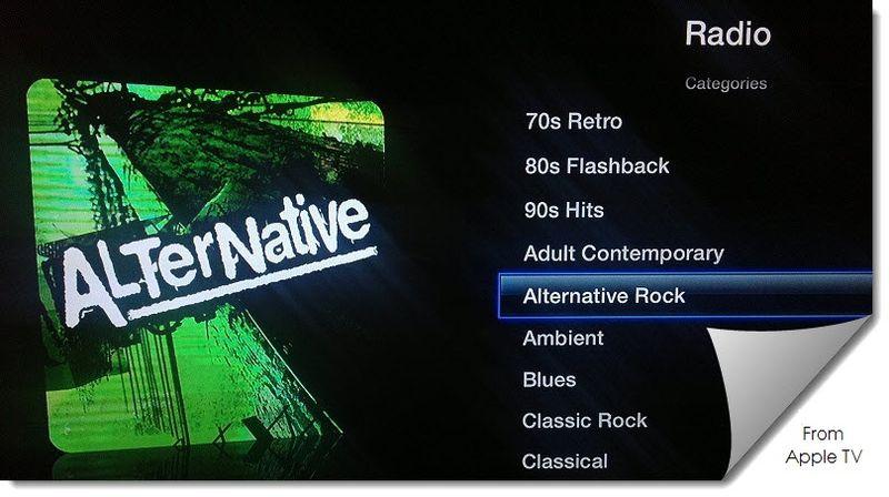 Extra Graphic, AlterNative Icon = Radio, Alternative Rock, Apple TV