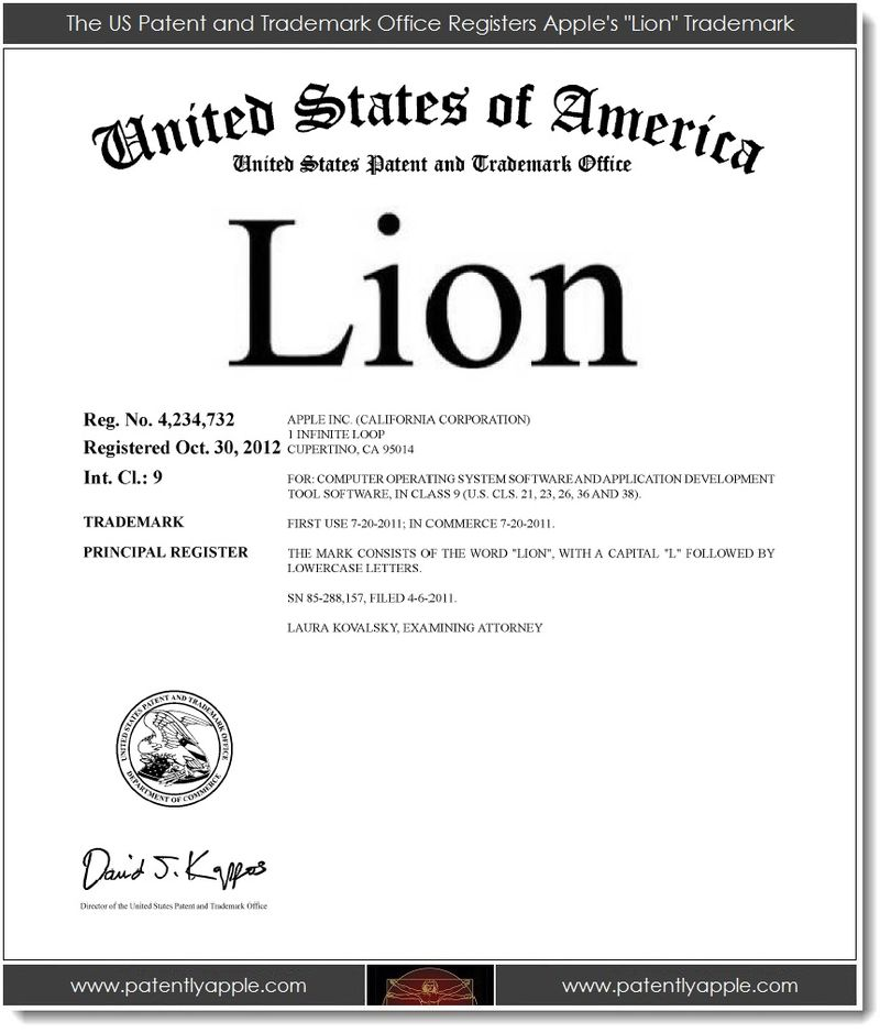 2. Lion, now a registered TM of Apple's