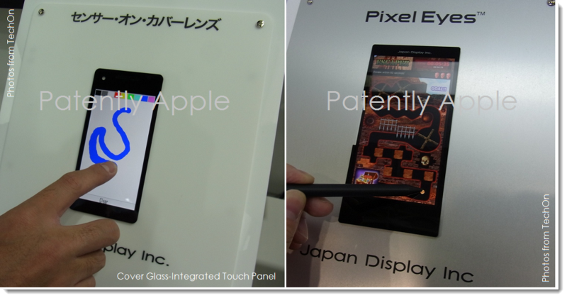 3A. TechOn Photos of two kinds of integrated touch displays from Japan Display