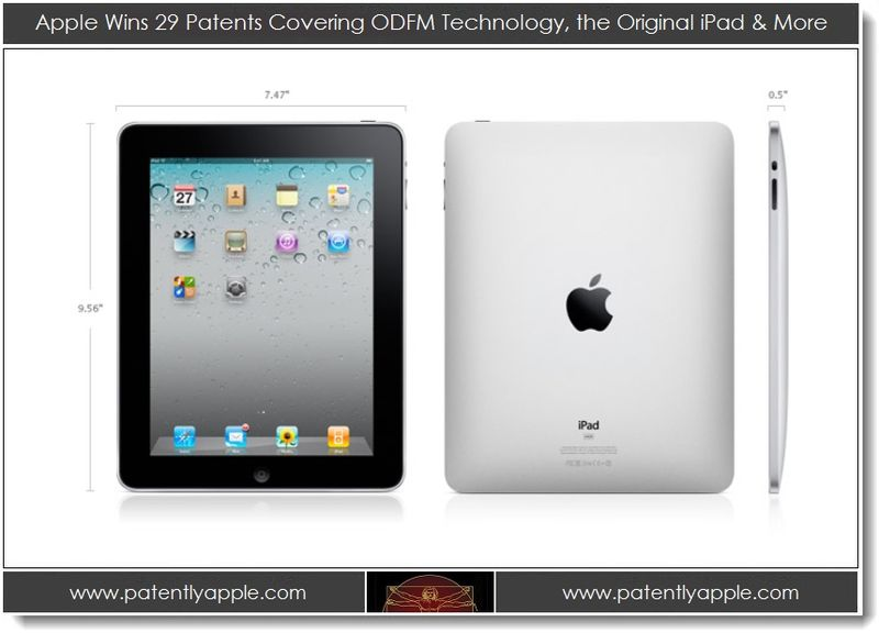 1. Apple Wins 29 Patents Covering ODFM Technology, the Original iPad +