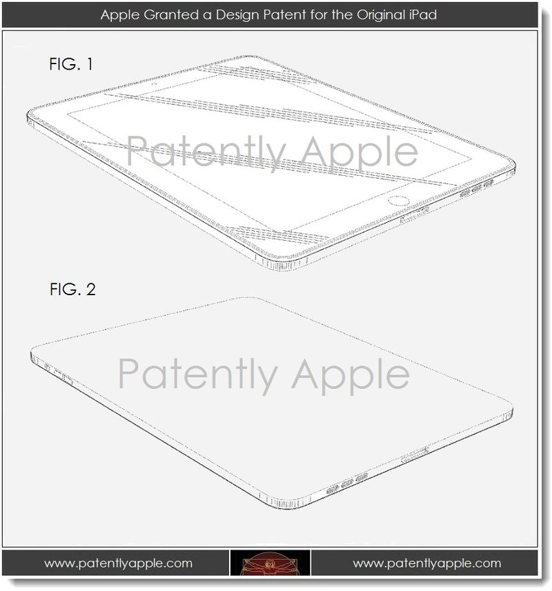 5. Apple Granted a design patent for the original iPad