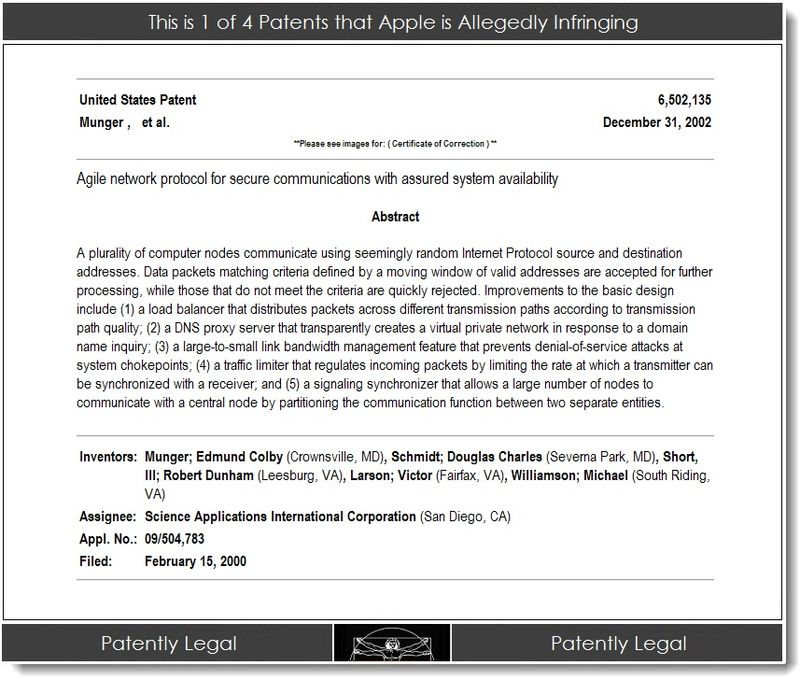 2. 1 of 4 patents that Apple is allegedly infringing