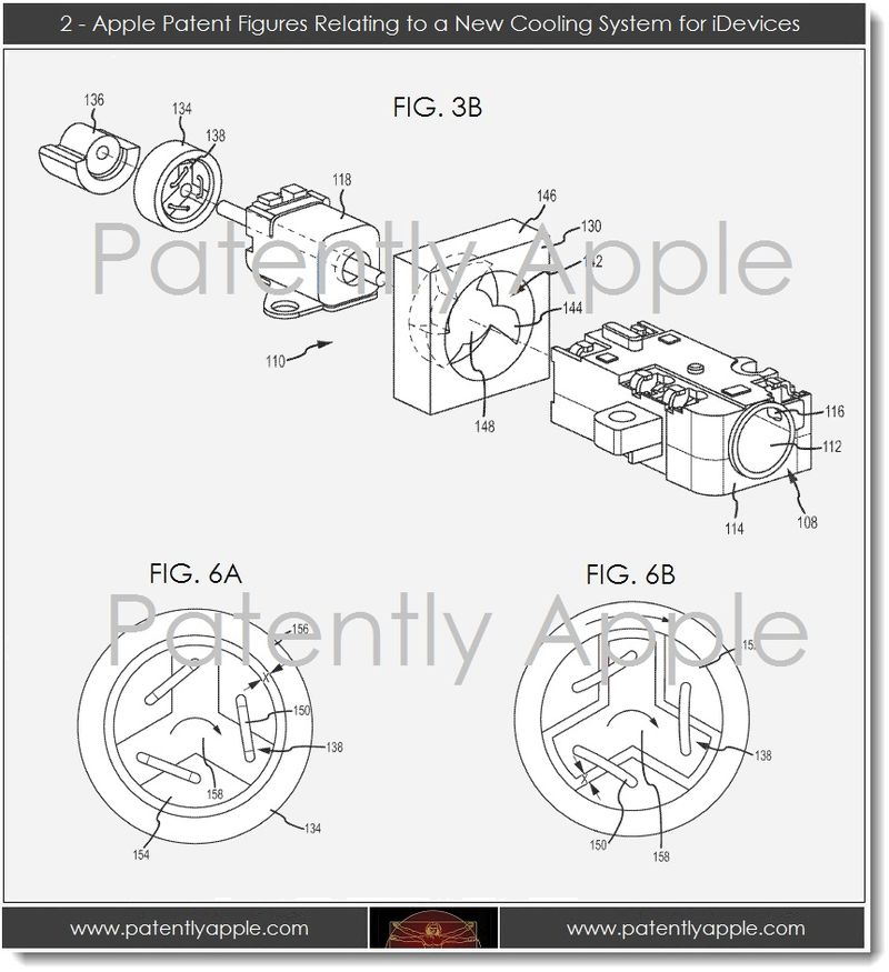 3.1 new Apple cooling system, figs 3b, 6a, 6b