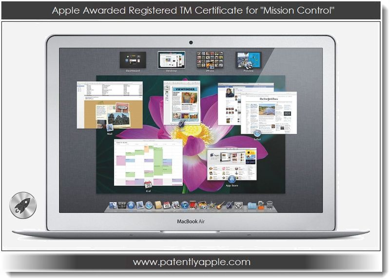 1. Apple awared registered TM certificate fro Mission Control
