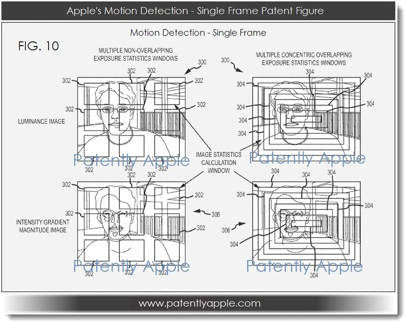 4. Apple's Motion Detection - Single Frame Patent Figure